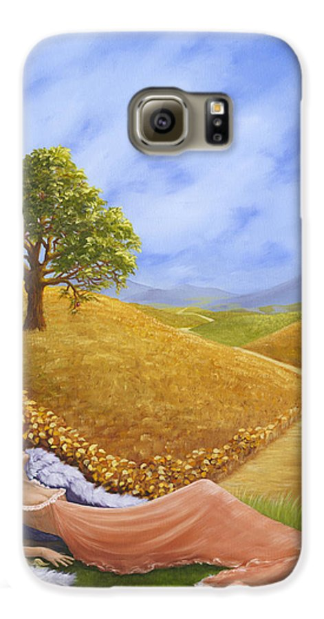 Angel Galaxy S6 Case featuring the painting Heaven On Earth by Brenda Ellis Sauro