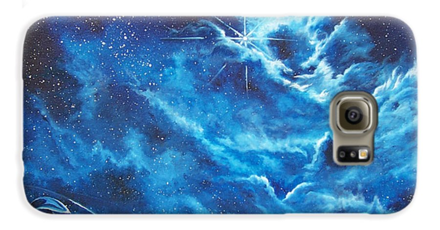 Astro Galaxy S6 Case featuring the painting Heavens Gate by Murphy Elliott