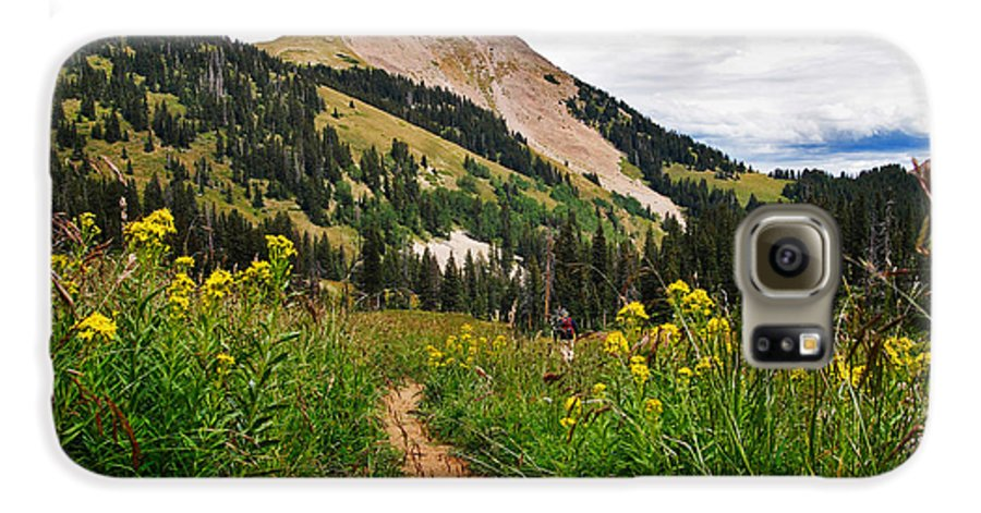 3scape Galaxy S6 Case featuring the photograph Hiking In La Sal by Adam Romanowicz