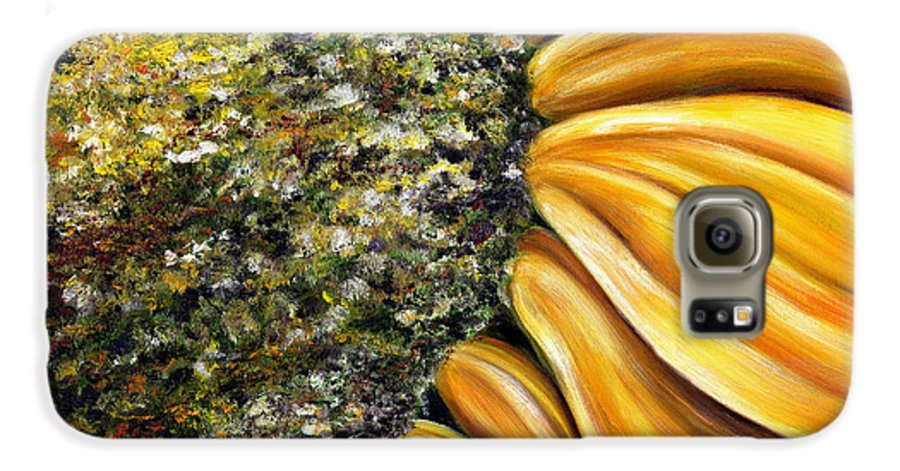 Sun Flower Galaxy S6 Case featuring the painting Himawari by Hiroko Sakai