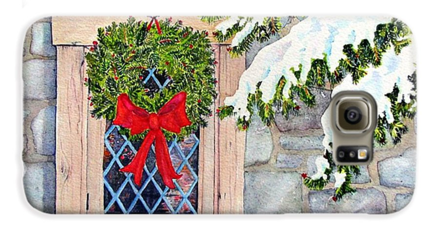 Holidays Galaxy S6 Case featuring the painting Home For The Holidays by Mary Ellen Mueller Legault