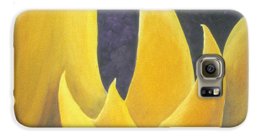 Tulips Galaxy S6 Case featuring the painting Hope by Christina Rahm Galanis