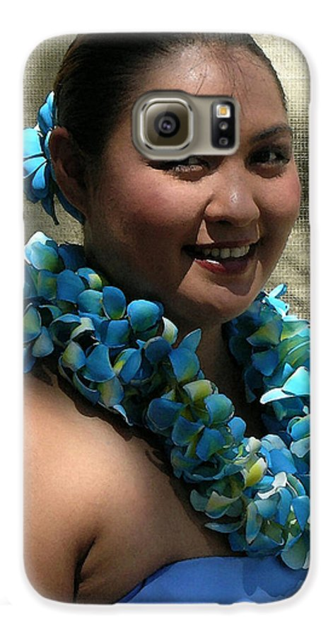 Hawaii Iphone Cases Galaxy S6 Case featuring the photograph Hula Blue by James Temple