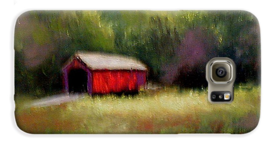 Covered Bridge Galaxy S6 Case featuring the painting Hune Bridge by Gail Kirtz