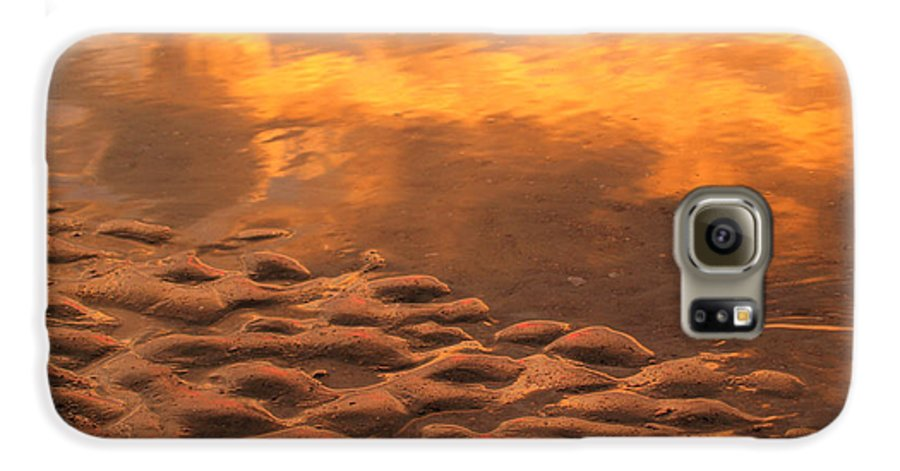Sunrise Galaxy S6 Case featuring the photograph Hunting Island Sunrise Reflections by Anna Lisa Yoder