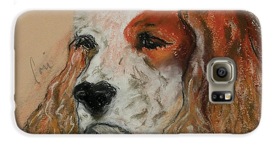 Dog Galaxy S6 Case featuring the pastel Idle Thoughts by Cori Solomon