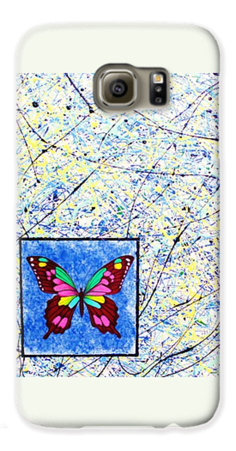 Abstract Galaxy S6 Case featuring the painting Imperfect I by Micah Guenther