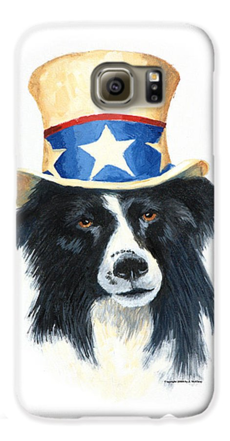 Dog Galaxy S6 Case featuring the painting In Dog We Trust by Jerry McElroy