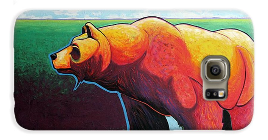Grizzly Bear Galaxy S6 Case featuring the painting In His Prime by Joe Triano