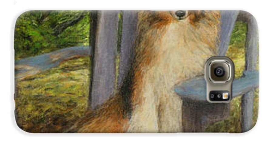 Pets Galaxy S6 Case featuring the painting In Memory Of Esha by Chris Neil Smith