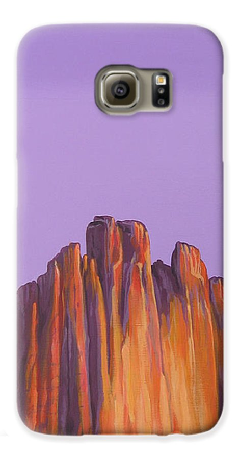 Landscape Galaxy S6 Case featuring the painting Inscription Rock by Hunter Jay