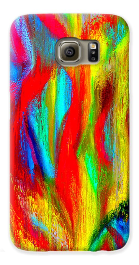 Abstract Galaxy S6 Case featuring the painting Inspire Experiment by Stan Hamilton