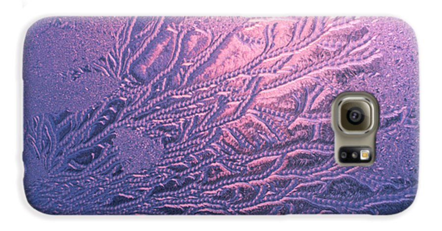 Frost Galaxy S6 Case featuring the photograph Jack Frost Window At Dawn by Anna Lisa Yoder