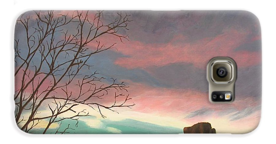 Sedona Galaxy S6 Case featuring the painting Jewels In The Sky by Janis Mock-Jones