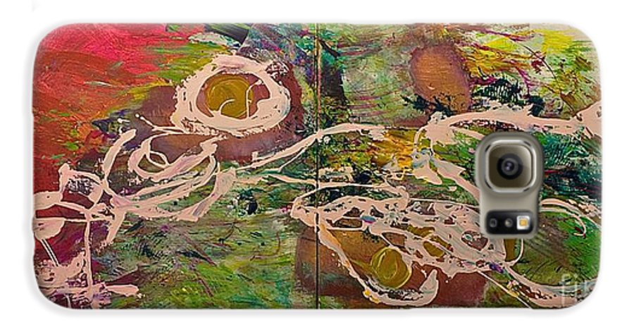 Landscape Galaxy S6 Case featuring the painting Journey Forth by Allan P Friedlander