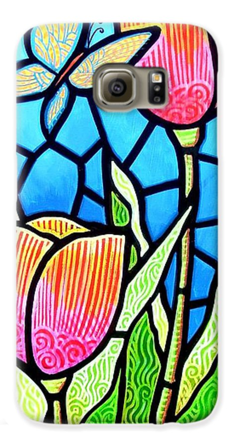 Butterflies Galaxy S6 Case featuring the painting Just Visiting by Jim Harris