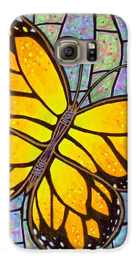 Butterflies Galaxy S6 Case featuring the painting Karens Butterfly by Jim Harris