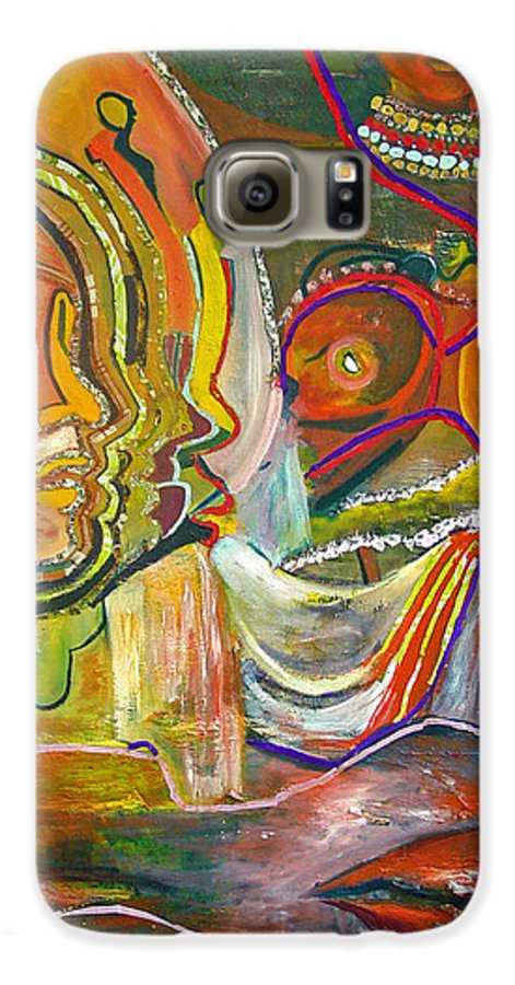 Impressionism Galaxy S6 Case featuring the painting Koulikoro Woman by Peggy Blood