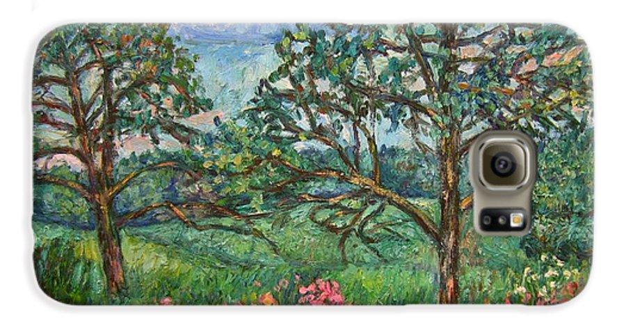 Landscape Galaxy S6 Case featuring the painting Kraft Avenue In Blacksburg by Kendall Kessler