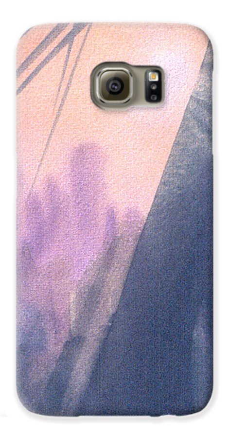 Landscape Galaxy S6 Case featuring the painting La Morning by Christina Rahm Galanis