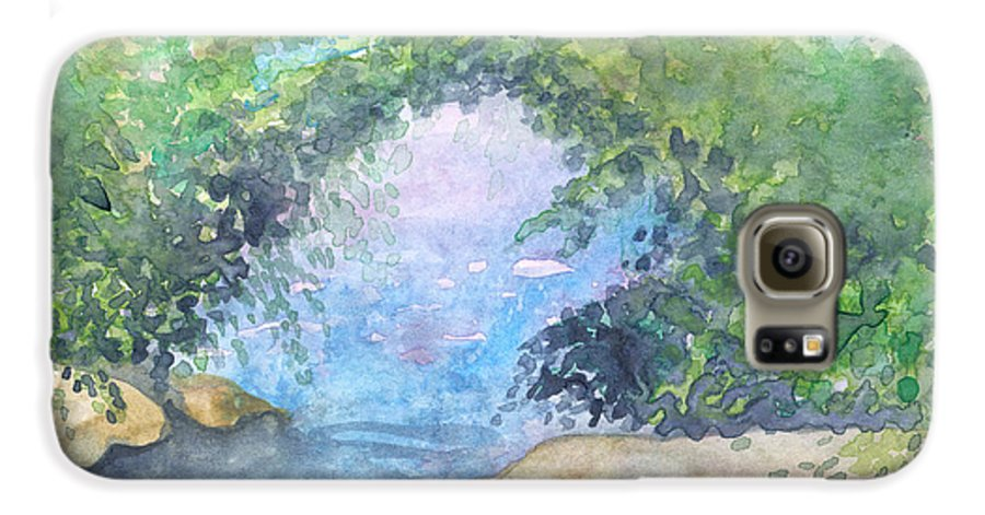 Landscape Galaxy S6 Case featuring the painting Landscape 2 by Christina Rahm Galanis