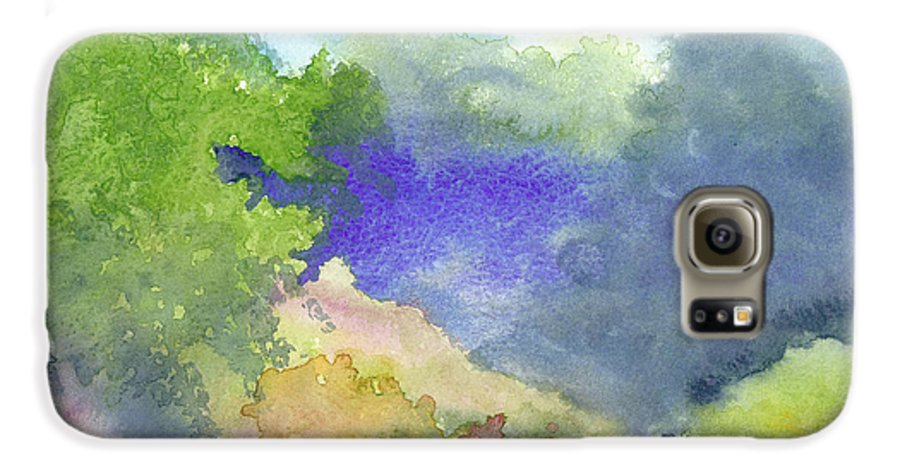Landscape Galaxy S6 Case featuring the painting Landscape 5 by Christina Rahm Galanis