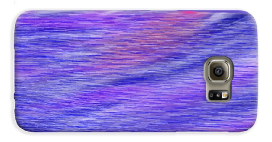 Sky.stars.sea.reflection.waves.evening.rest.silence. Galaxy S6 Case featuring the digital art Last Ray Of Sun by Dr Loifer Vladimir