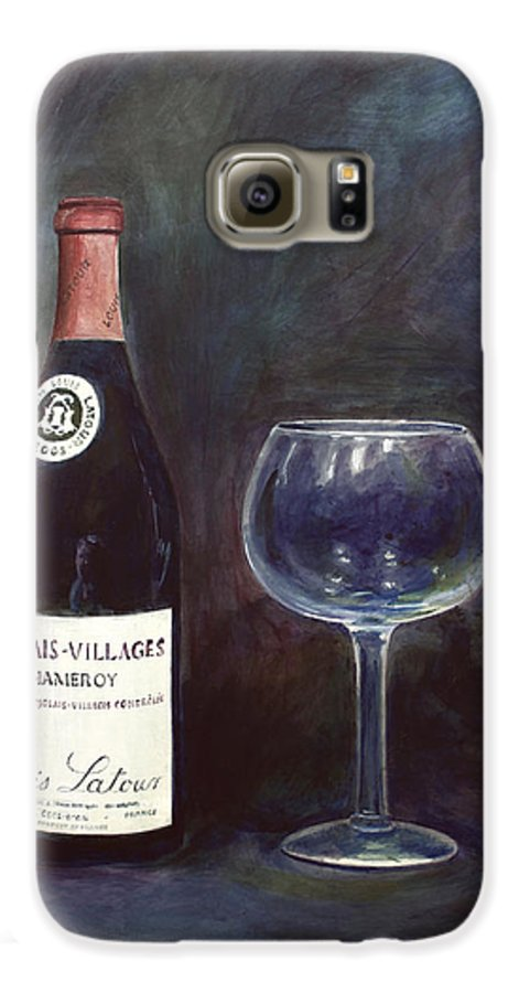 Lime Painting Galaxy S6 Case featuring the painting Latour Wine Buon Fresco 3 Primary Pigments by Don Jusko