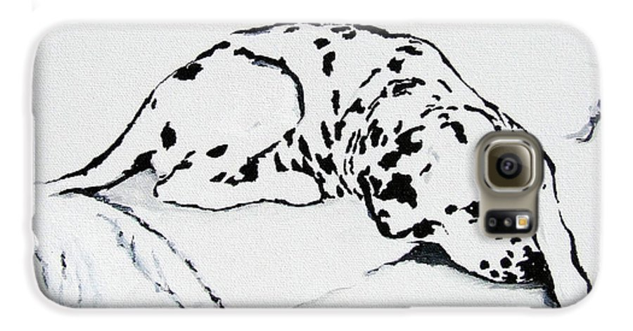 Dogs Galaxy S6 Case featuring the painting Lazy Day by Jacki McGovern