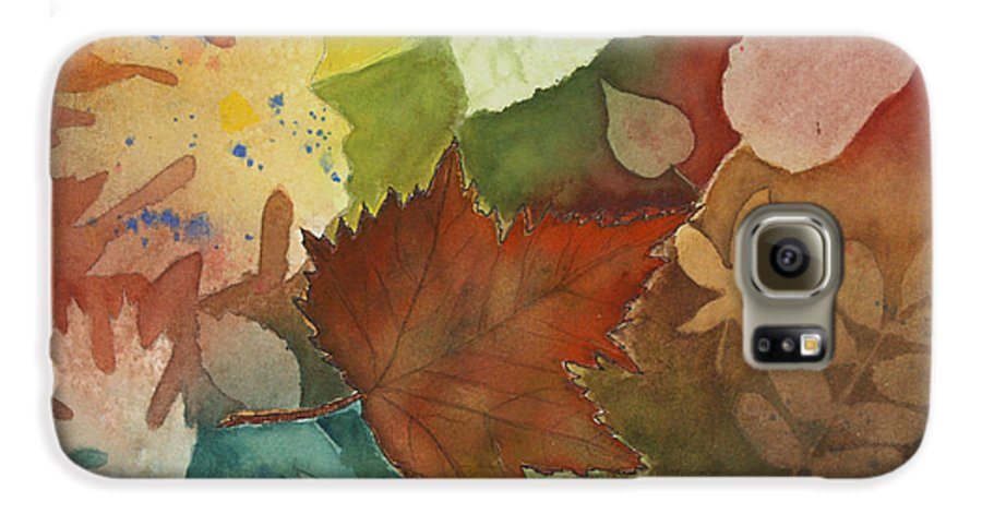 Leaves Galaxy S6 Case featuring the painting Leaves Vl by Patricia Novack