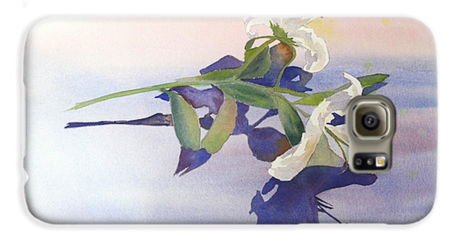 Lily Galaxy S6 Case featuring the painting Lilies At Rest by Patricia Novack