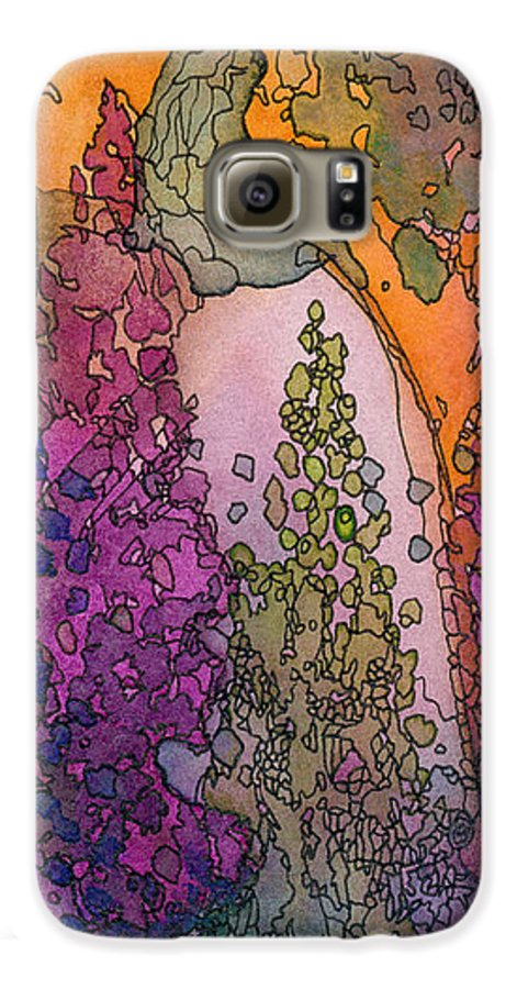 Fantasy Galaxy S6 Case featuring the painting Little Girl On A Rock by Christina Rahm Galanis