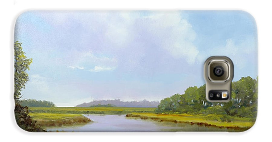 St. Simons Galaxy S6 Case featuring the painting Lowcountry Afternoon by Glenn Secrest