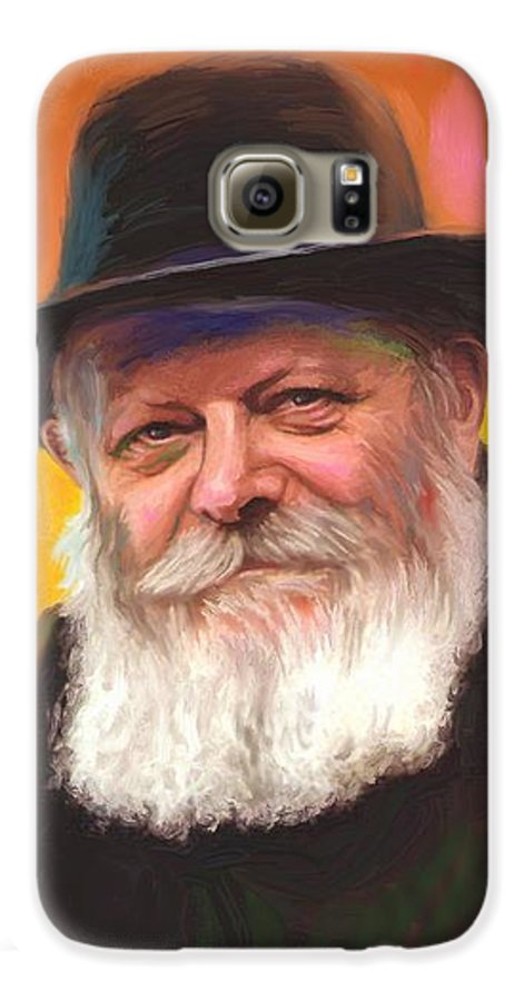 Lubavitcher Rebbe Galaxy S6 Case featuring the painting Lubavitcher Rebbe by Sam Shacked