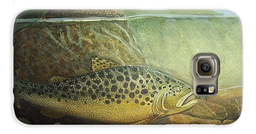 Rick Huotari Galaxy S6 Case featuring the painting Lurking by Rick Huotari