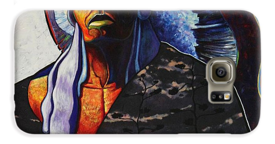 Native American Galaxy S6 Case featuring the painting Make Me Worthy by Joe Triano