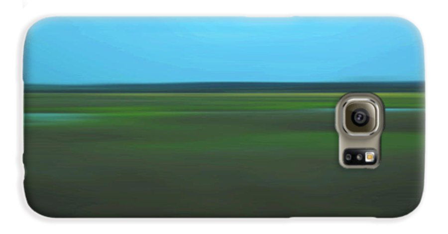 Abstract Galaxy S6 Case featuring the photograph Marsh Blur by Suzanne Gaff