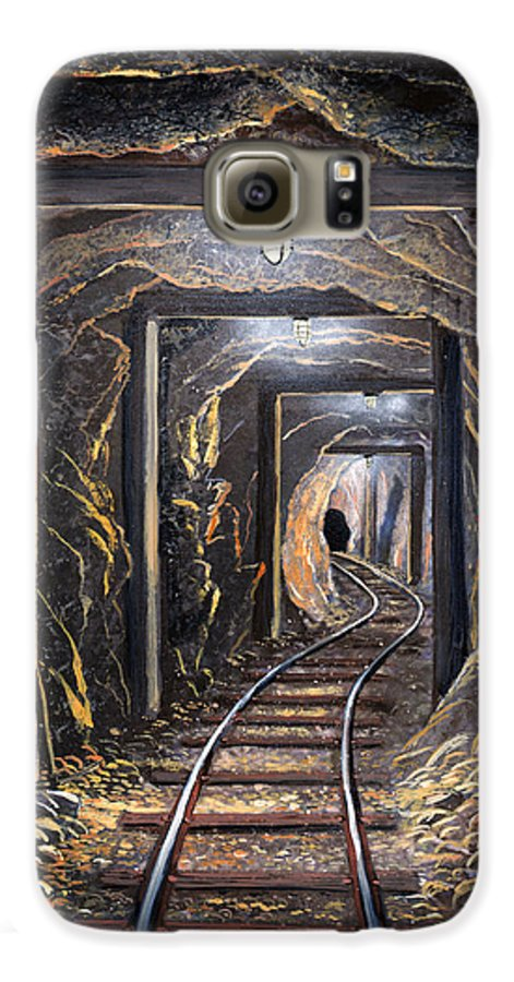 Mural Galaxy S6 Case featuring the painting Mine Shaft Mural by Frank Wilson