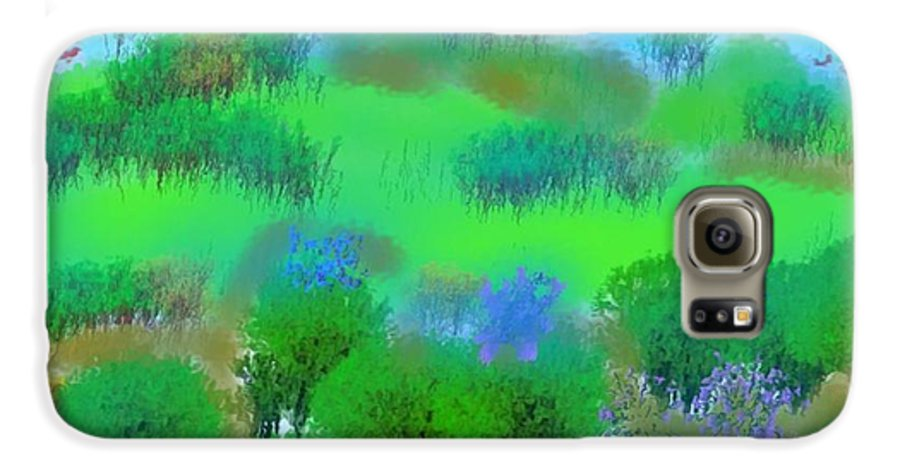 Morning Galaxy S6 Case featuring the digital art My Morning Window View by Dr Loifer Vladimir