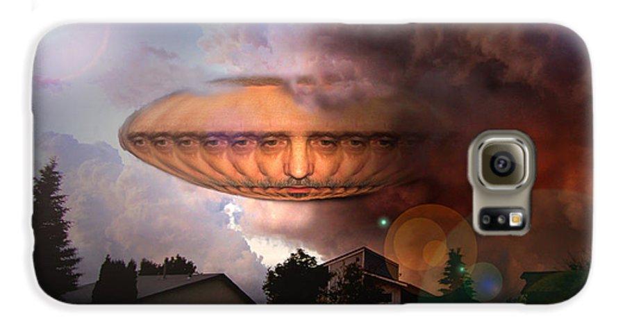 Surrealism Galaxy S6 Case featuring the digital art Mystic Ufo by Otto Rapp