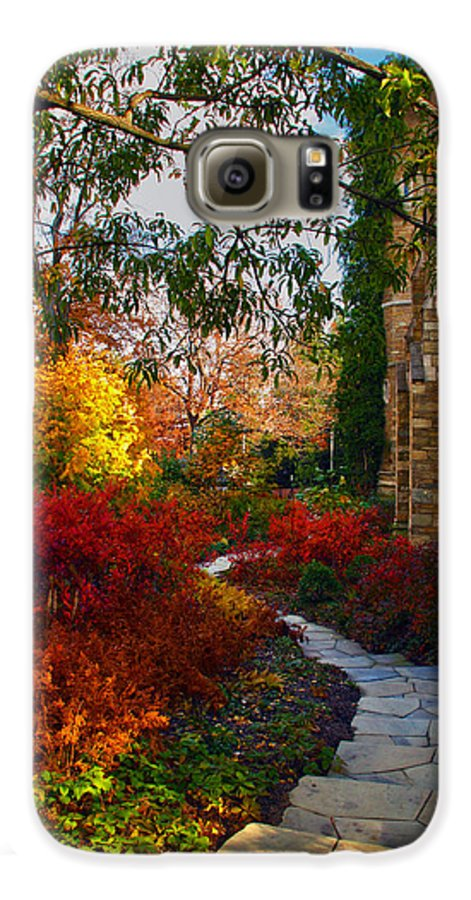 National Cathedral Galaxy S6 Case featuring the photograph National Cathedral Path by Mitch Cat