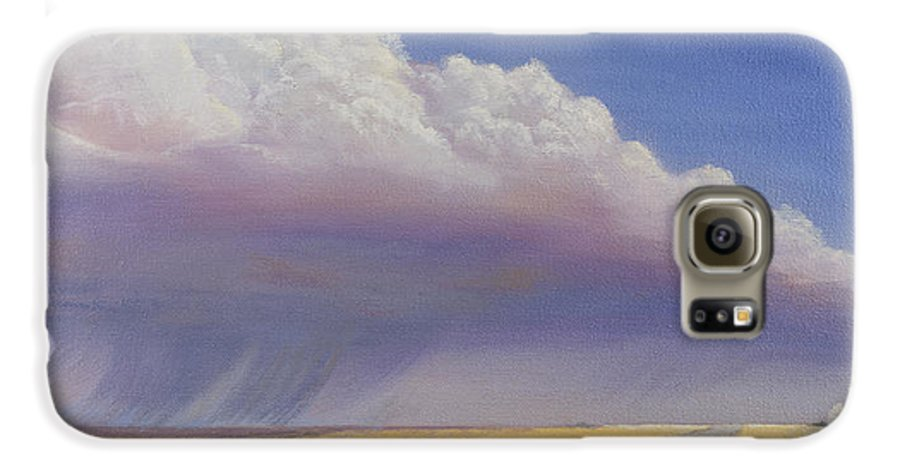 Landscape Galaxy S6 Case featuring the painting Nebraska Vista by Jerry McElroy