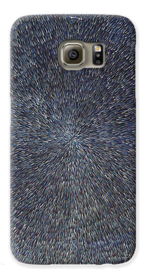 Abstract Galaxy S6 Case featuring the painting Night Radiation by Dean Triolo