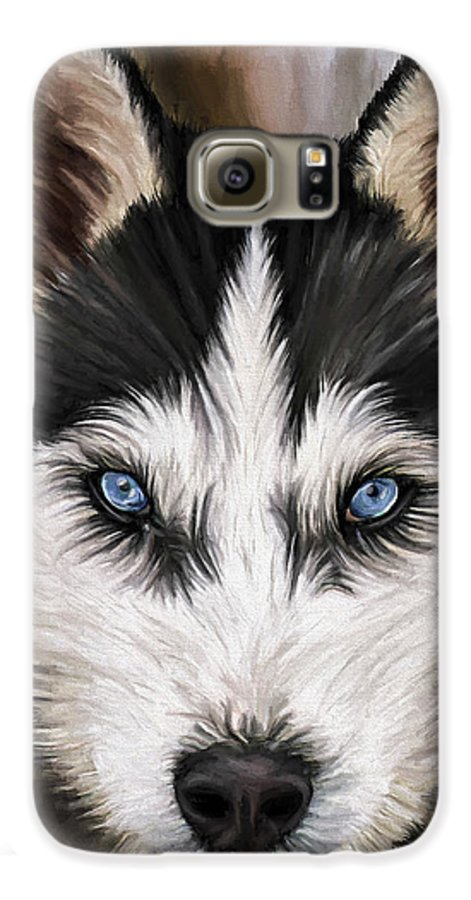 Dog Art Galaxy S6 Case featuring the painting Nikki by David Wagner