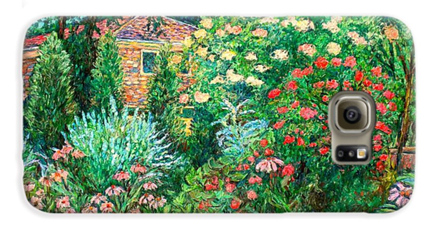 Garden Galaxy S6 Case featuring the painting North Albemarle In Mclean Va by Kendall Kessler