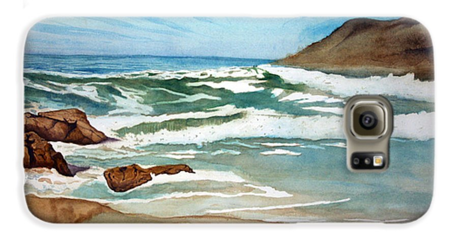 Rick Huotari Galaxy S6 Case featuring the painting Ocean Side by Rick Huotari
