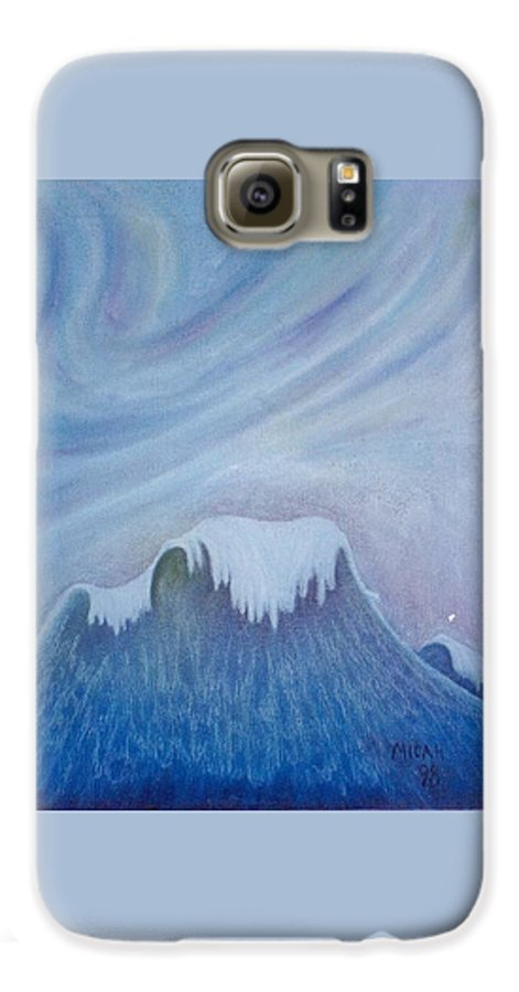 Ocean Galaxy S6 Case featuring the painting Ocean Wave by Micah Guenther