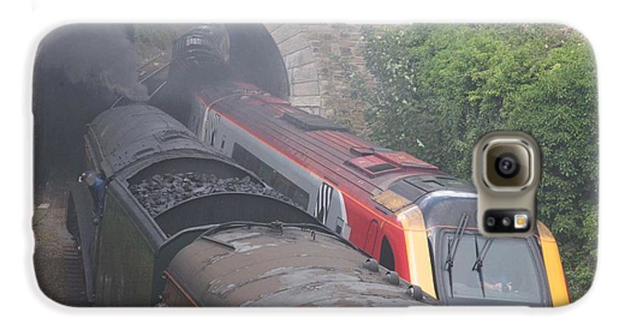 Trains Galaxy S6 Case featuring the photograph Old Meets New. by Christopher Rowlands