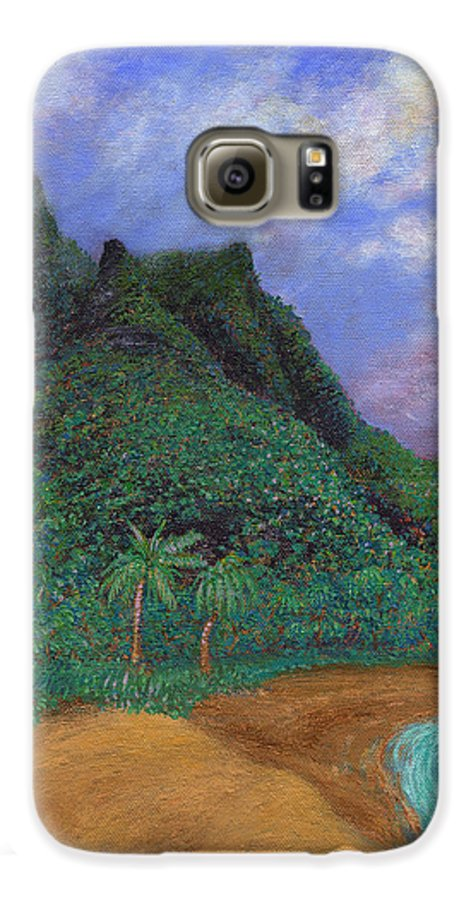 Coastal Decor Galaxy S6 Case featuring the painting On The North Shore by Kenneth Grzesik