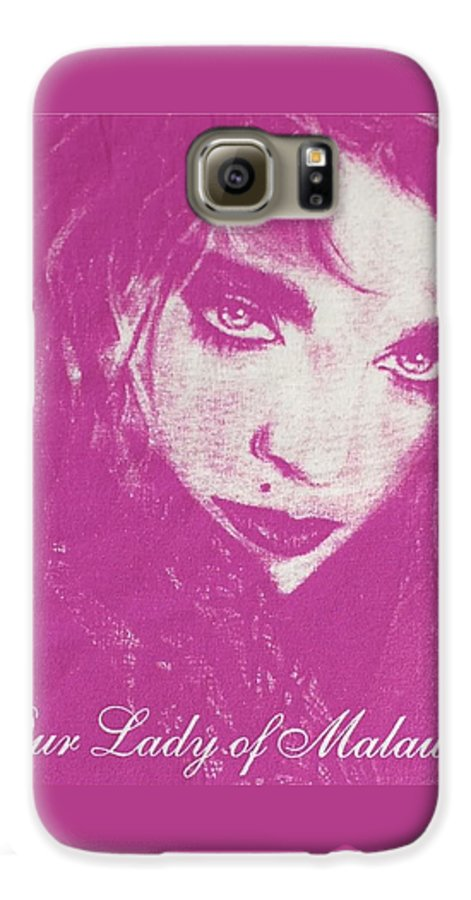 Madonna Galaxy S6 Case featuring the drawing Our Lady Of Malawi Madonna by Ayka Yasis